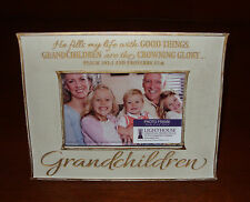 Lighthouse Christian GRANDCHILDREN Photo Frame With Bible Scripture Psalm 103:5