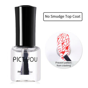 8ml Pict You No Smudge Top Coat Oil Nail Art Stamping Printed Protector Care Oil