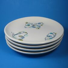 Pottery Barn BUTTERFLY Salad Dessert Plates Set of 4 Butterflies Spring Plate