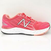 New Balance Womens 680 V5 W680LF5 Hot Pink Running Shoes Lace Up Size 8 D