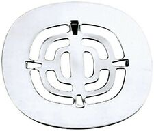 Westbrass 4-1/2 In. Brass Snap-In Shower Hair Strainer Grid Polished Chrome New