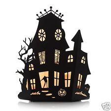 YANKEE CANDLE Silhouettes Haunted House Multi Tea Light Holder NIB Halloween