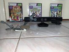 Microsoft Xbox 360 KINECT Motion Sensor Bar with GAMES And Headset Bundle