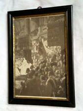 Berliner Leisten um 1850 Goldinnenrand altes Glas  31 cm x 22 cm