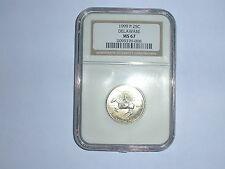 1999-P 25C Delaware State Quarter NGC MS 67