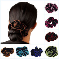 Ponytail Holder For Women Hairclips Flower Elastic Hair Rope Hair Ring Velvet