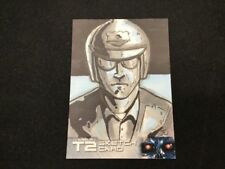 2016 Unstoppable Cards Terminator 2 Hand Drawn Sketch Card 1/1 Artist Auto