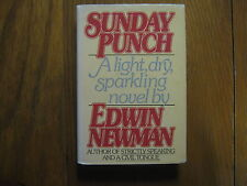 """EDWIN NEWMAN (Died in 2010)Signed Book(""""SUNDAY PUNCH""""--1979 First Edit.Hardback)"""