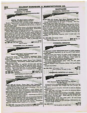 1955 AD STEVENS, MOSSBERG, RIFLES, SHOT GUNS, DOUBLE BARREL, REPEATING, SAVAGE