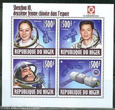 Niger 2013 10th Anniversary Of Shenzhou 10 Yaping, Haisheng & Xiaoguang Sheet