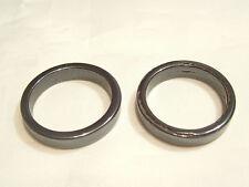 3 x  Hematite Ring Beads/Pendants : HEMP35 (25.5mm) Un-drilled