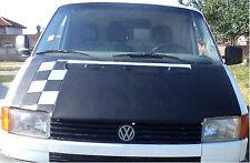 Bonnet Cover Bra for Volkswagen VW Transporter T4 1991-1999 Silver Chequered
