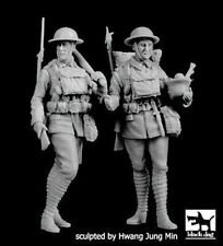 Black Dog 1/35 British Soldiers Wwi w/Trench Club and Helmet (2 Figures) F35196