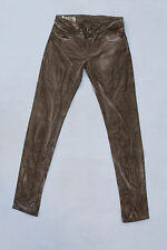"DONDUP Ladies ""LAMBDA"" Lavato Marrone Denim Jeans Slim Stretch W25 UK8 ITALIA"