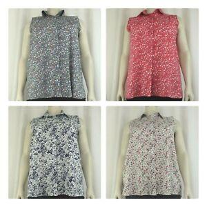 Women's sleeveless button up blouse, sizes (14-28)
