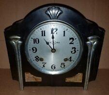 Antique Oriental Mantel Clock Black Asian Design Unique