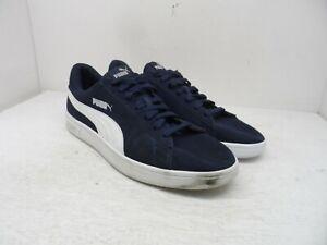 PUMA Men's Smash v2 Athletic Casual Shoes Navy/White Size 13M