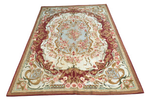 Vintage French Handmade Aubusson Carpet Area Rug for Any Room Oriental Boho 6x9