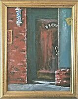 """Original """"Barbershop"""" Painting 11x9 Signed by collected painter Steven G.Graff"""