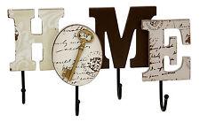 HOME Living CONTEMPORANEO IN LEGNO MDF Casa Segno Muro Appeso Cappotto Gancio Chiave Rack