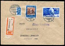BUND 1949 115,116 zusammen PORTOGERECHT auf R-BRIEF (H5225