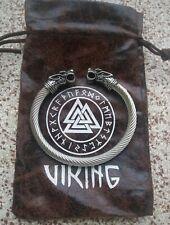 Bracelet Viking Tête Dragon Acier Inoxydable Haut de Gamme Très Belle Finition