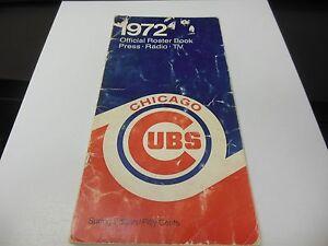 1972 CHICAGO CUBS MLB BASEBALL OFFICIAL MEDIA GUIDE ROSTER BOOK RARE SPRING EDI