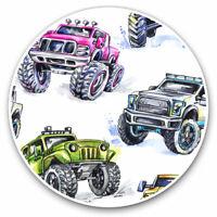 2 x Vinyl Stickers 10cm - Monster Truck Kids Van Car Cool Gift #8186