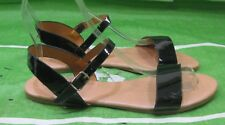 NEW LADIES Summer Black Womens Shoes Open Toe Flat Sexy Sandals Size 8.5