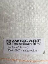 "Sambuca 28ct From Zweigart ~Antique White 20""x33"" 7640/101"