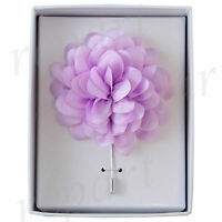 New in box formal Men's Suit chest brooch lilac flower lapel pin wedding prom