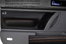 ORANGE STITCH 2X FRONT DOOR CARD TRIM SKIN COVERS FITS VW BEETLE 1998-2011