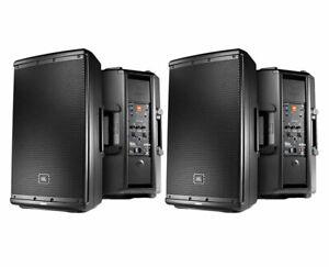 2x JBL EON612 Active Loudspeaker Powered Monitor Speaker Pair (B)