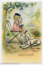 GERMAINE BOURET . la femme fatale . Chien . Caniche . poodle dog