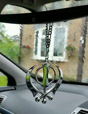 Large Stainless Steel Punjabi Sikh Large Khanda Pendant Car Mirror Hanging P2
