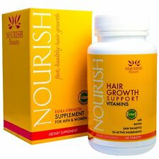 Nourish Beaute Hair Loss Supplement - With Biotin and Natural DHT Blockers - v