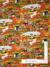 Autumn Pumpkin Farm House Scenic Cotton Fabric Timeless Treasures C4337 - Yard