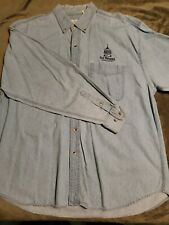 Vintage Trump Taj Mahal Casino 7-Button Denim Shirt, Size Xl Used: Atlantic City