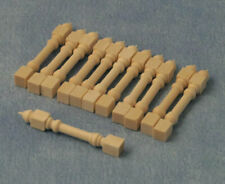 Wooden Stick Spindles Pack Of 12 (42mm), Dolls House Miniature, Stairs