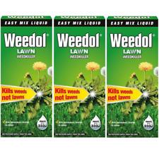 3 x Weedol / Verdone Extra Lawn Weedkiller Kills Weeds 500ml Treats 333m2 Garden