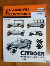 A B2 B10 B12 5CV 19-26 Revue Technique Les Archives Du Collectionneur Citroen E
