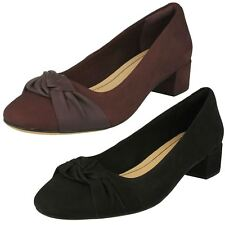Womens Clarks Bow Detailed Block Heel Shoes 'Orabella Lily'