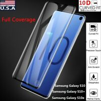 For Samsung Galaxy S10 Plus S10e Full Cover 10D Tempered Glass Screen Protector