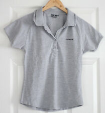 La Gear Womens Ladies Top Polo Short Sleeve Grey T Shirt Size M 12