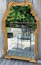 New listing Vintage La Barge Italian Hollywood Regency Large Gold Gilt Wood Wall Mirror 60s