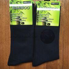 3 Pairs SIZE 6-11 95% BAMBOO SOCKS Men's Premium Work/School Socks Comfort Navy