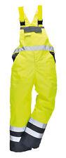 Portwest Contrast Hi Vis Bib Brace Overalls Work Dungarees Waterproof Breathable