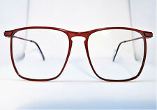 True Vintage Elan Sleek & Large Red Amber Eyeglass Frames Women's & Men's 56mm