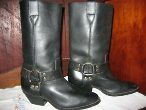 Excellent New Cond.Genuine Jenny Reb,High Top,Biker/Country Boots,Brass Rings