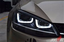 Black Headlight Eyebrow Eyelids Eyelid For VW Golf 7 VII GTI GTD R MK7 2013-2017
